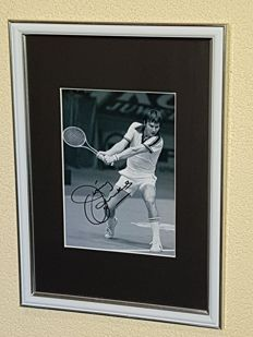 Jimmy Connors - Wimbledon Legend - hand signed b/w framed photo + COA