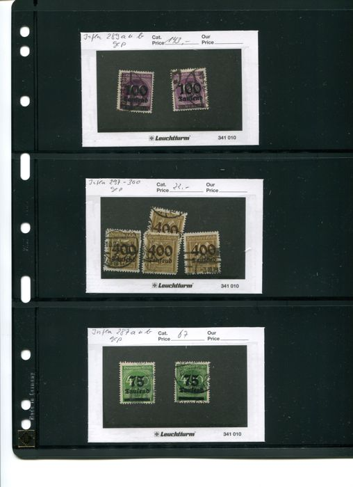German Reich from the imperial period to the Third Reich - compilation of stamps