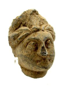 Gandhara Stone Statue's Head of Buddha  - 54mm