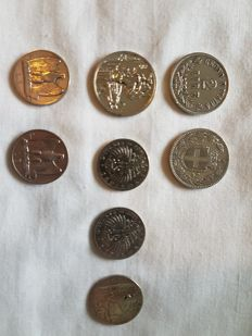 Kingdom of Italy - Lot of 8 coins 1863/1927 - silver