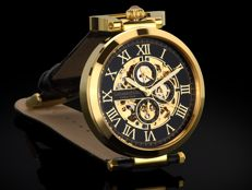 CALVANEO 1583 CALIBER SQUELETTE GOLD - MEN'S AUTOMATIC WRISTWATCH - 2018 COLLECTION - NEW
