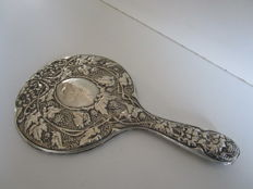J & R Griffin - Silver Hand Mirror  Chester 1909 - England