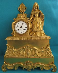 Large mercury Gilt Bronze table clock - Gindranauxl A ELBEUF - Brevetes Gold Medal - Early 19th-century - France