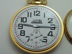 unitas ut-6497 railroad swiss pocket watch new old stock