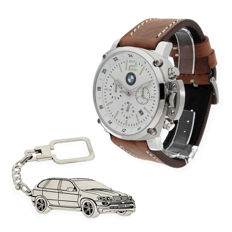 S&S men's watch for BMW + Sterling silver key ring with a reproduction of the X5