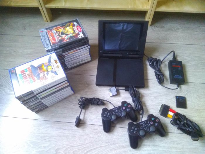 Sony Playstation 2 Slim Console With 8 Joytech Screen 2 Catawiki