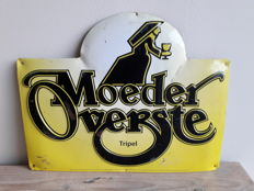 """Moeder Overste tripel"" / Barbar Belgian honey beer, advertising board in tin"