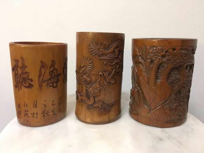 Bamboo Brush Pots - China - late 20th century
