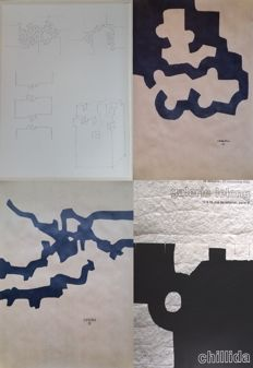 Eduardo Chillida - Sculptural Plan, Composition I,Marble and Lead