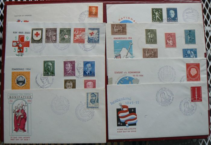 The Netherlands 1953/1955 - Selection FDC's