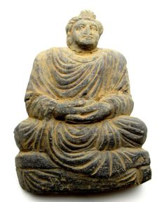 Large Gandhara Stone Statue of Buddha  - 202x133 mm