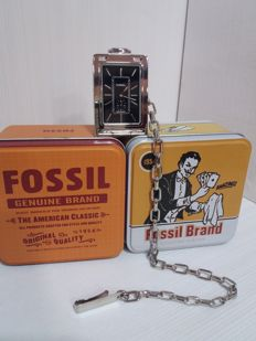Fossil Quartz Metal Pocket Watch - for man - 1980-1989