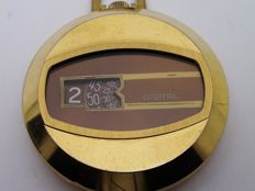 digital jump hour  swiss pocket watch size 40 mm