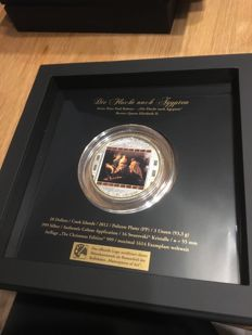 "Cook Islands - 20 dollars 2012 ""Masterpiece of Art - Peter Paul Rubens"" with 16 Swarovski stones - 3 oz of silver"