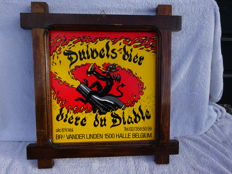 Advertising sign of wood / plastic - Duivels Bier - ca. 1980
