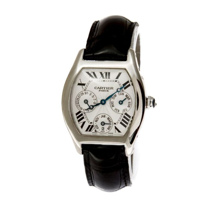 Cartier - Tortue Perpetual Calendar 18K White Gold  - 2540 - Homme - 2011-aujourd'hui