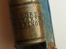 English sea fishing rod Manufacturer Andrew WS Early 20th century