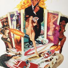 Robert McGinnis - Live and let Die / The man with the Golden Gun (James Bond) - 1973/1974