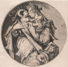 Jacob de Gheyn II ( 1565 - 1629 ) - The Virtues / Charitas