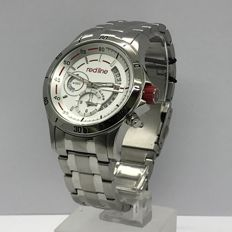 Red Line Mens Silver Stainless Steel Watch