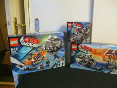 LEGO Movie - 70801 + 70802 +70808 – Super cycle chase +The Movie melting room + The Movie pursuit