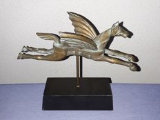 Bronze sculpture of a horse with wings Pegasus - 20th century