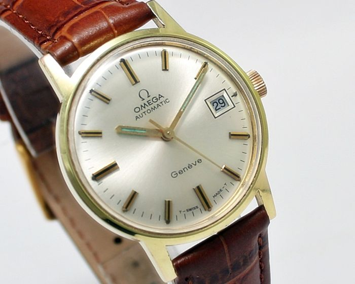 ac451a39cc8 Omega Geneve Gold Plated Automatic Men s Wrist Watch - Reference MD 166.070  - Year 1969