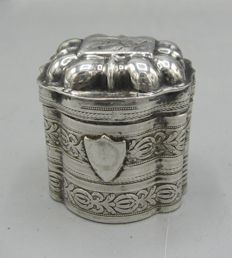 Decorated Dutch silver scent box - 1856