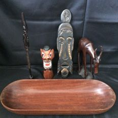 Different Types of Tribal Art / Carved Wood - Different Portugues Colonies