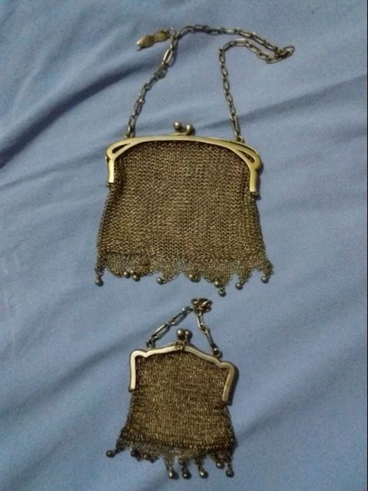 Silver 800 purse with coin purse. Italy, early 20th century
