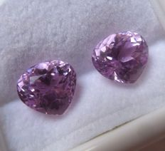Kunzite Matching Pair – 8.13 ct
