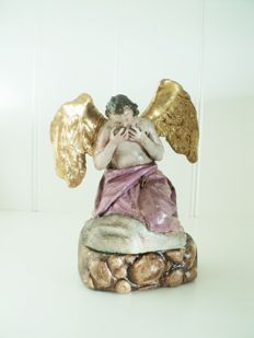 Angel - carved and painted wood - Baroque - 18th century