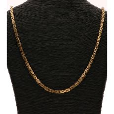 18 kt Yellow gold Byzantine link necklace - Length: 62 cm