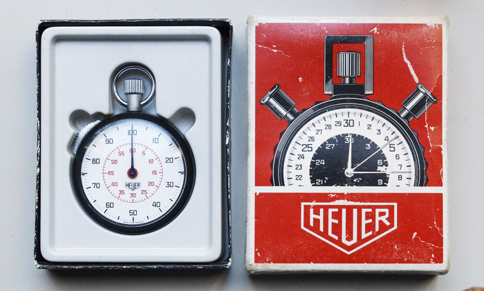 heuer stop uhr rallye timer 70er jahre mit originalverpackung catawiki. Black Bedroom Furniture Sets. Home Design Ideas