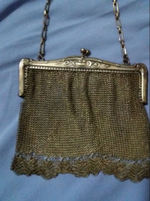 Theatre purse in silver 800 mesh