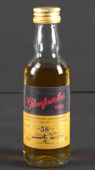 Glenfarclas 1953 - 58 years old - 50ml miniature bottle