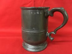 Antique Pewter Tankard - Italy - 1850/51