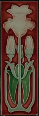 Narrow Art Nouveau tile