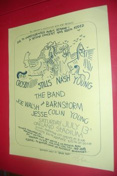 Crosby,Stills, Nash and Young Concert Poster