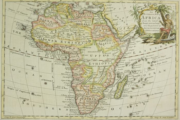 Accurate Map Of Africa.Africa R Reynolds An Accurate Map Of Africa 1768 Catawiki