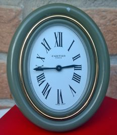 Cartier Paris Swiss Made beautiful table clock with alarm, in good condition