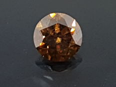 1.01 ct Round Diamond VVS2 Brown ** no reserve price **