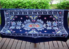 Pure hand batik cloth art, national characteristic hanging cloth painting, batik long table cloth about 100cm*150cm