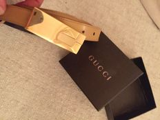 Gucci Belt, beige leather
