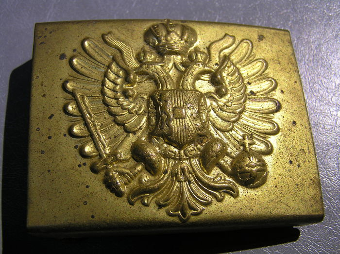 Original Austrian officer belt buckle from World War I