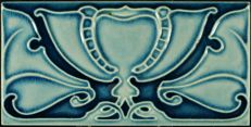 Craven Dunnill - Art Nouveau tegel in relief