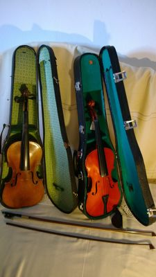 2 4/4 violins - one new and one old, to be restored, violino