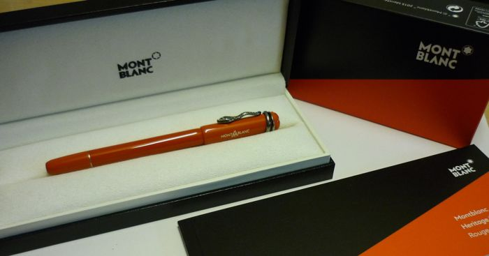 montblanc heritage rouge & noir collection fountain pen