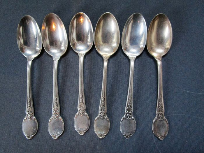Christofle - antique cutlery - around 1900 - 6 coffee spoons / mocha spoons - good condition