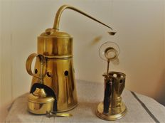 Two antique croup nebulisers/steam devices